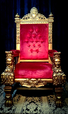 Gothic Style XXL Throne - Red