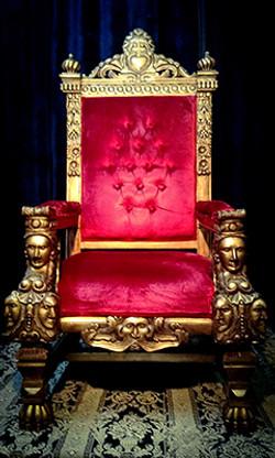Gothic Style XXL Throne - Red