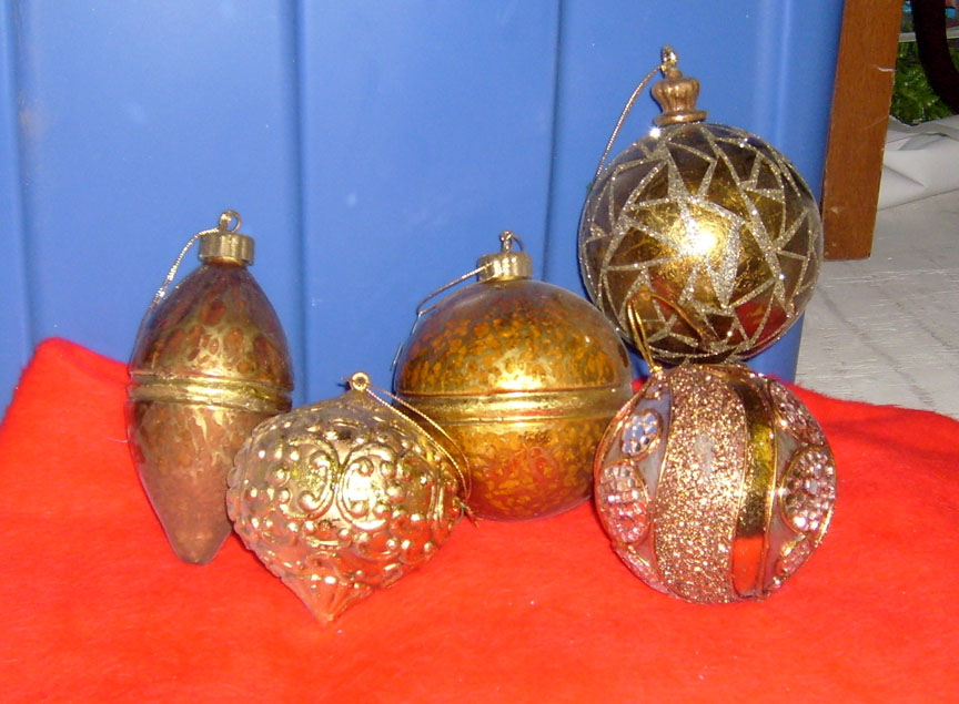 Large Gold Ornaments