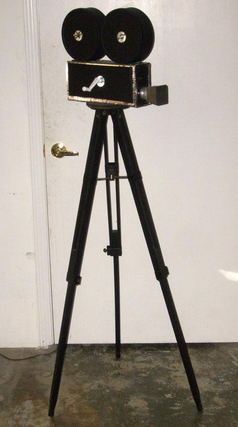 Vintage Film Camera on Tripod