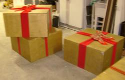 XXL Wood Christmas boxes
