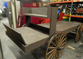 Flat Bed Western Wagon