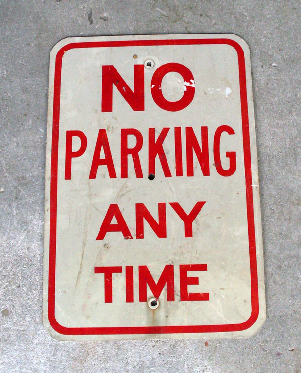 No Parking Street Sign
