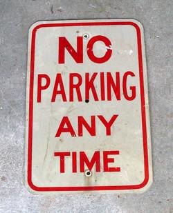 No Parking Street Sign