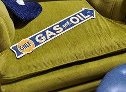Gulf Gas and Oil Metal Sign