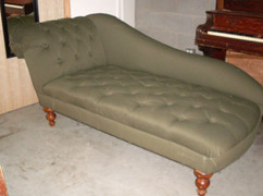 Green Tufted Chaise Lounge