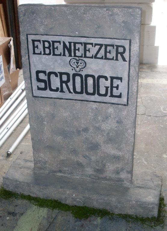 Scrooge Gravestone