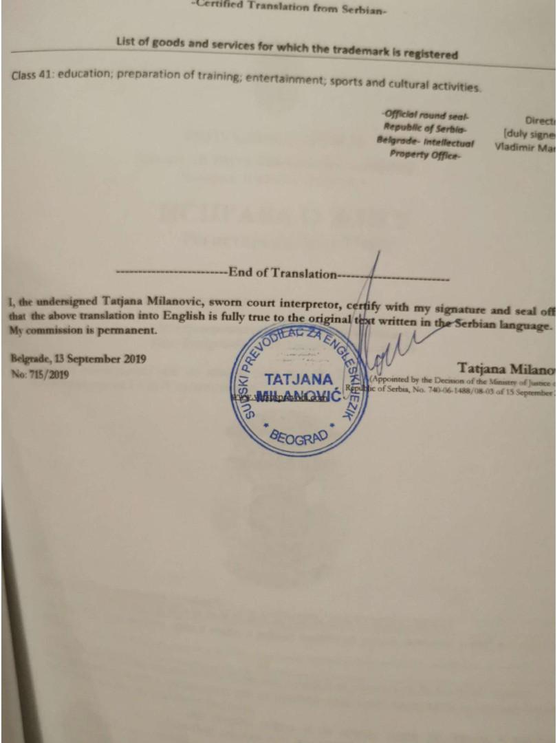 Logo registration english