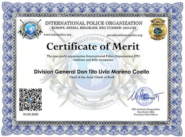 Division General Don Tito Livio Moreno C
