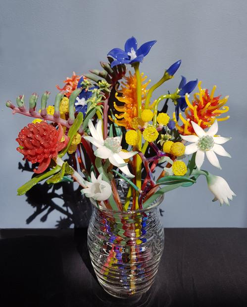 Native Flowers & Vase