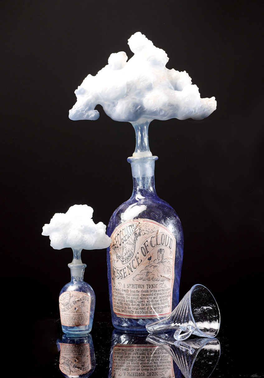 Cloud Essence Bottle and Funnel