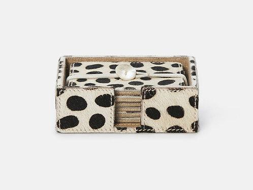 Dalmatian Hide Coaster Set