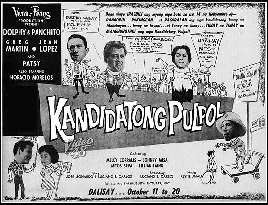 Kandidatong Pulpol (1961) DVD