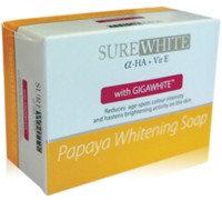 SureWhite Papaya Whitening Soap with Gigawhite (135g)