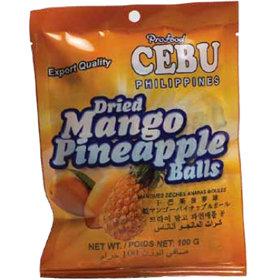Dried Mango Pineapple Balls (100g) Cebu Brand