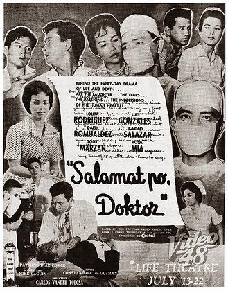Salamat Po Doktor (1960) DVD