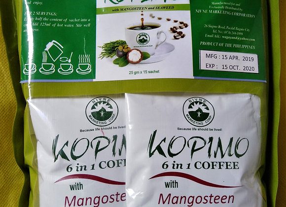 Kopimo 6-in-1 Coffee with Mangosteen and Seaweed