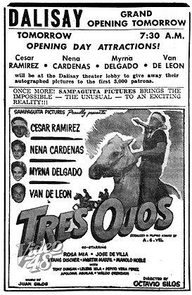 Tres Ojos (1964) DVD