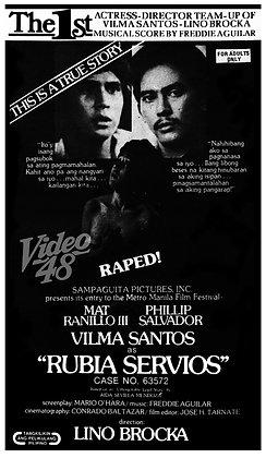 Rubia Servios: Case No. 63572 (1978) DVD