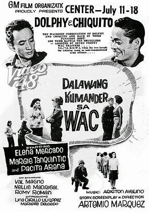 Dalawang Kumander sa WAC (1965) DVD