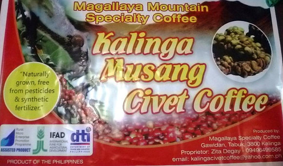 Kalinga Civet Ground Coffee 20g