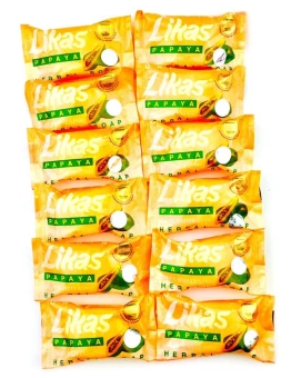 Likas Papaya Herbal Soap (3 x 135grams)