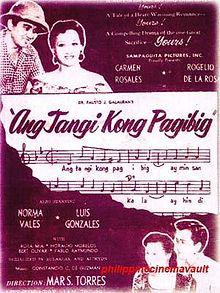 Ang Tangi Kong Pag-Ibig (1954) VCD