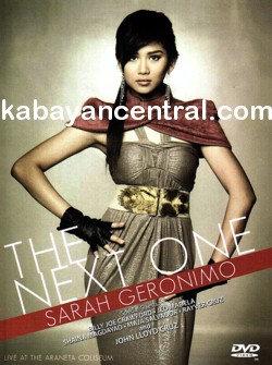 Sarah Geronimo: The Next One Live Concert DVD
