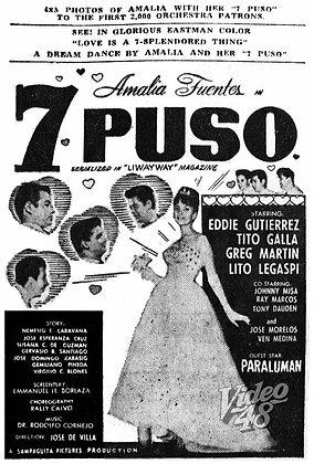 Pitong Puso (1962) DVD