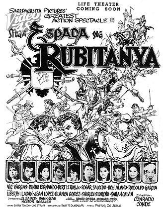 Mga Espada ng Rubitanya (1965) DVD