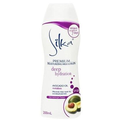 Silka Premium Moisturizing Milk Lotion w/ Avocado Oil SPF 23 (200ml)