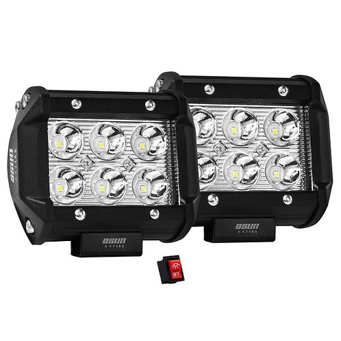 Par de Faros LED Alta Intensidad 18w 9-LED OSN0109