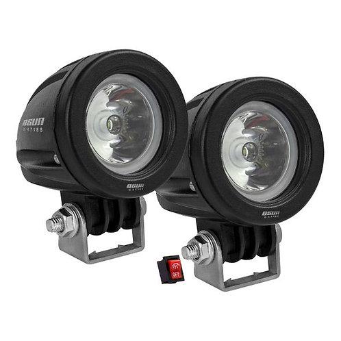 Par de Faros LED Redondo 10w 1 LED OSN0011