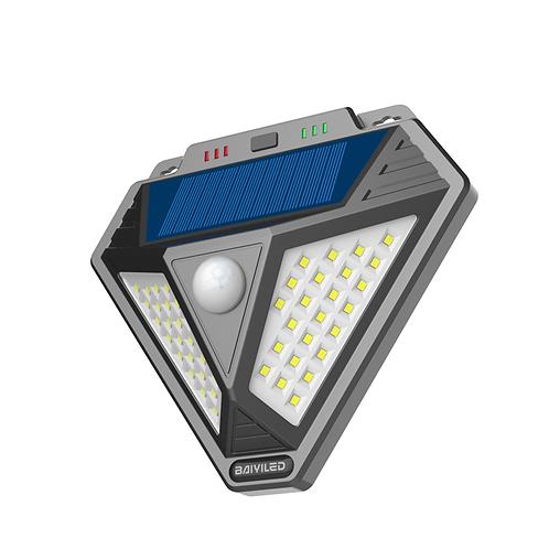 SOLAR - Lampara 48LED Exterior C/Sens BY-S48U