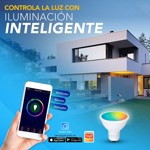 Kit 2 GU10 LED SMART WIFI Multicolor y Blancos 6W ALA-030