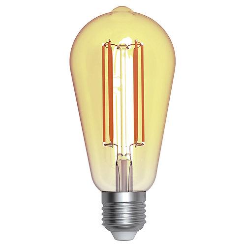 ALA-022 LAMPARA LED FILAMENTO ST64 E26 4W DIMEABLE LUZ AMBAR 1800K