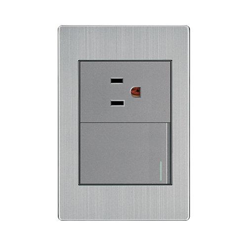 Placa 1 Contacto y 1 Interruptor 3 Vías APL-105