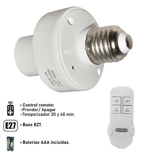 Socket con control remoto E27 E27CS02