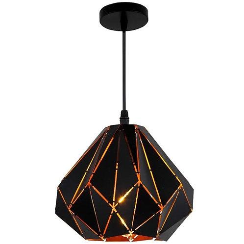 Lámpara De Techo Golden Black Líneas Geométricas NG-CGC-01