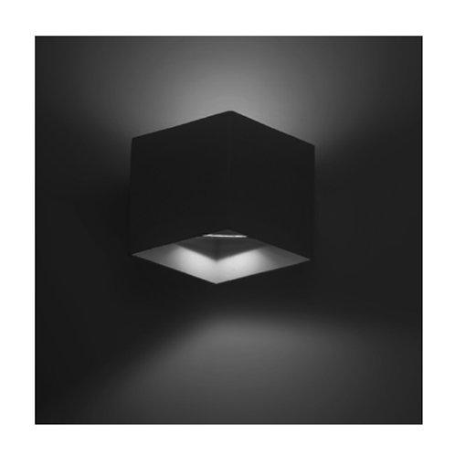 Luminario Negro/BcoCalido 6w Asimetrico 067-ILU50766WBIP54