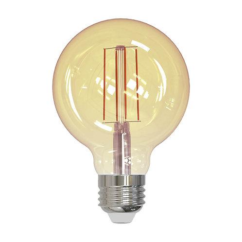 ALA-028 LAMPARA LED FILAMENTO G95 E26 7W DIMEABLE LUZ AMBAR 1800K