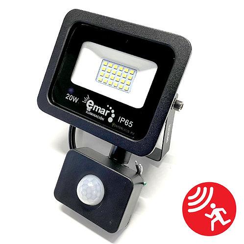 Reflector C/Sensor 20w Blanco Frio EM-EMSL20WBC