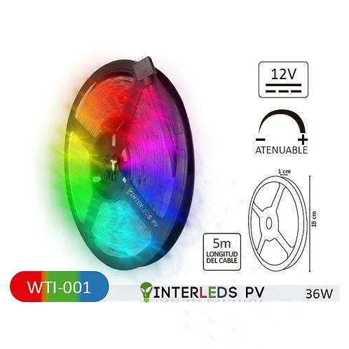 Tira LED RGB 150-LED Chip 5050 5metros 12v 36w IP65 WTI-001