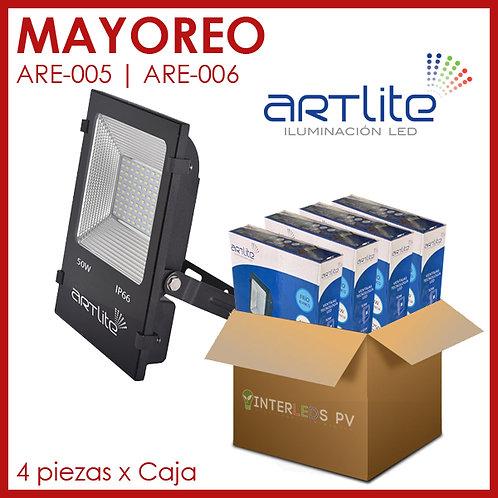 MAYOREO Reflector LED SMD Slim Cuadrado 50W- Artlite