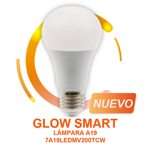 SMART Foco LED 7w Wifi 2700-6500k Tecnolite 7A19LEDMV200TCW