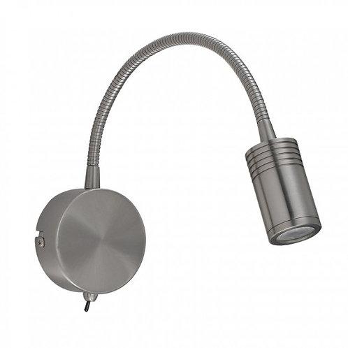 Luminaria LED satinada, es la perfecta lampara de lectura - F2130-3W - CALUX