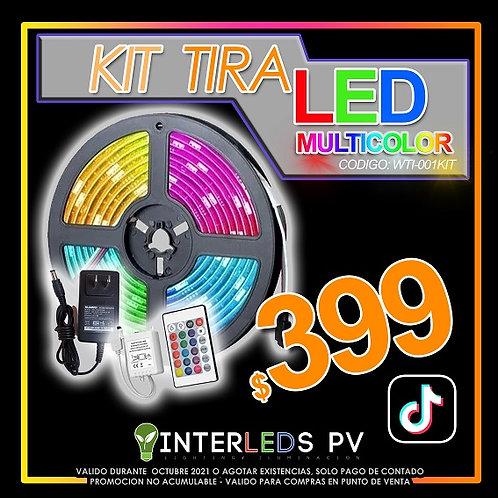 Kit Tira LED 5mts RGB+CTRL+F.P.  WTI-001KIT