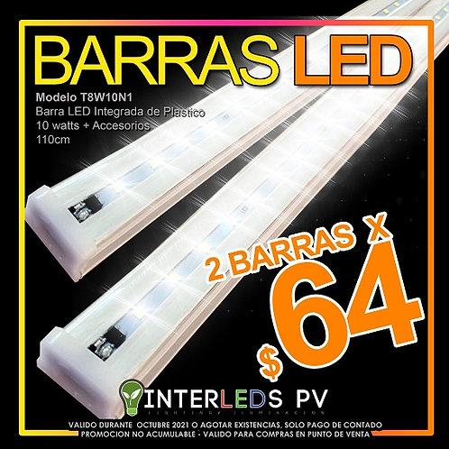 2 Lamparas LED Plástico Integrada 10w HP-MAGLE-20T8