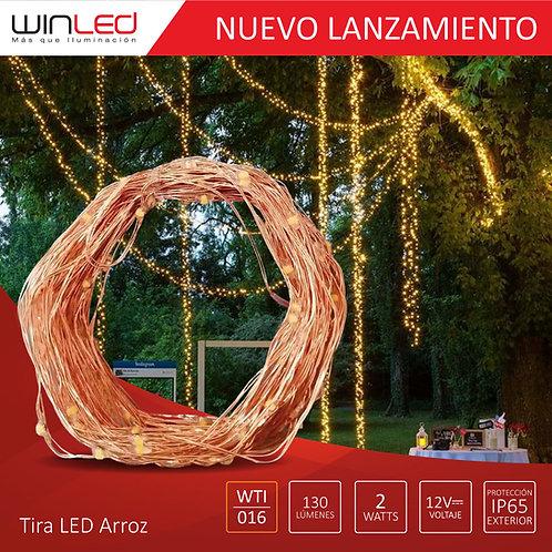 TIRA LED ARROZ 10M 2W EXTERIOR BLANCO CÁLIDO WTI-016
