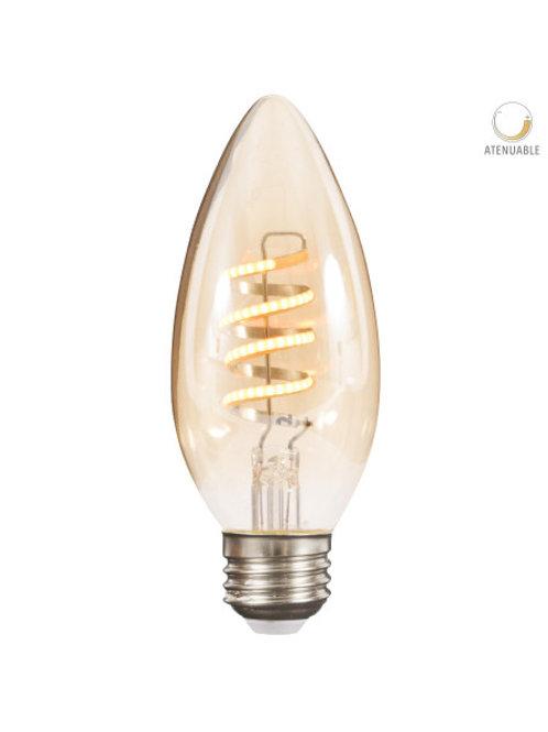 Foco LED E27 Fil Espiral 3.5w 4DC35LEDFTE27V27A